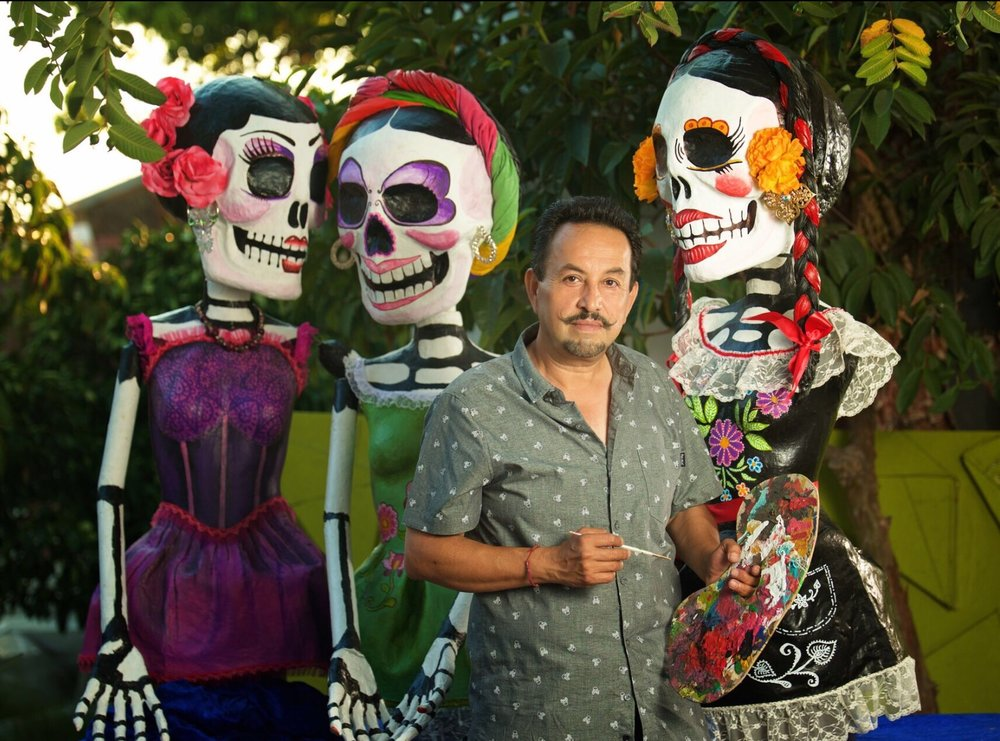 Artist Ricardo Soltero is making custom art pieces for Downey's Dia de los Muertos festival on Oct. 29.