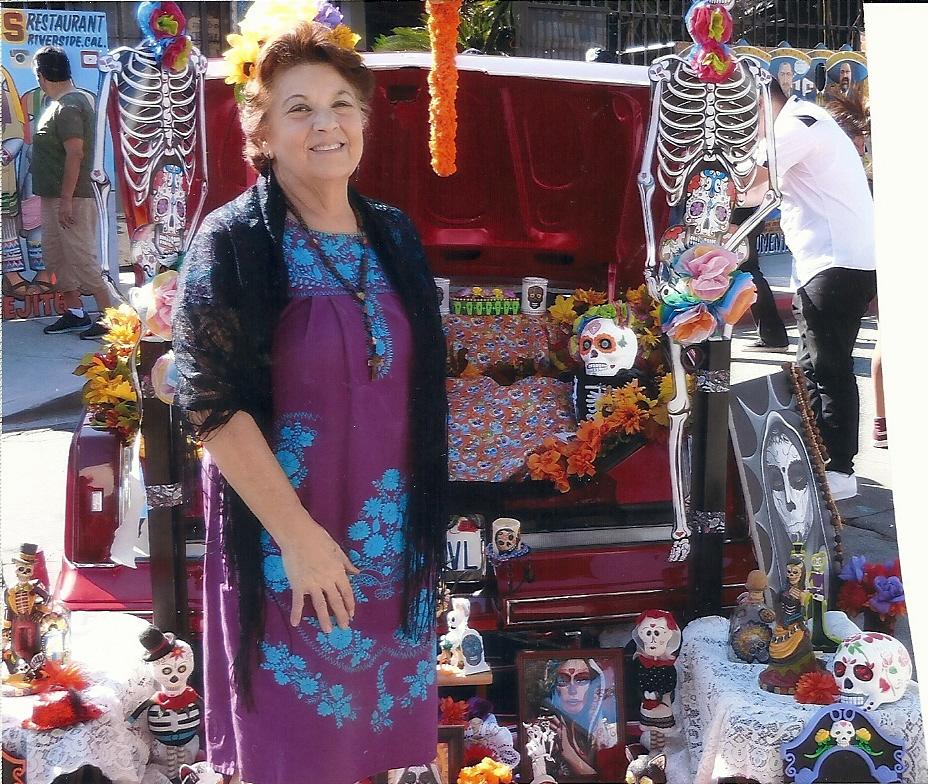 Yolanda Adele at last year's Dia de los Muertos event in Downey.
