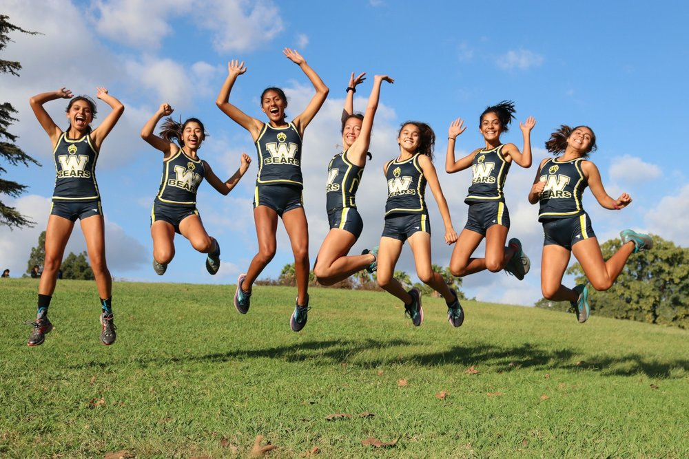 Warren High's girls' cross country team captured the San Gabriel Valley League championship. Photo courtesy Jay Waldron