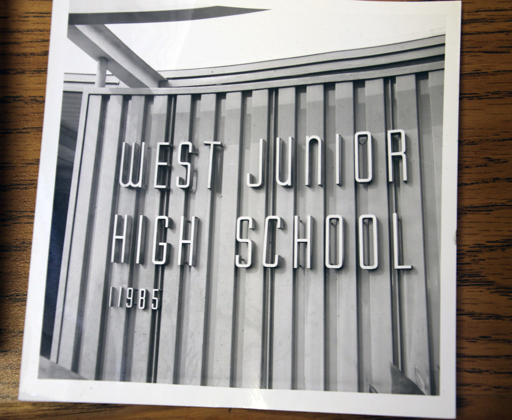 The once West Junior High has had a few name changes over the course of 40 years. Photo by Alex Dominguez