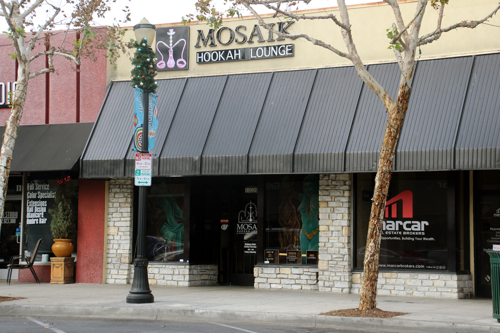 Mosaik Hookah Lounge at 11029 Downey Avenue had its live entertainment permit pulled last week. Photos by Alex Dominguez