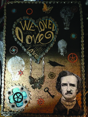 Wendy Hernandez created this art piece, inspired by Edgar Allen Poe.