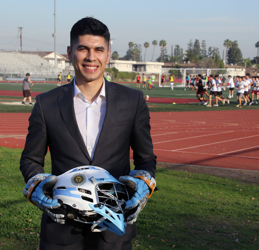Steve Sedano started the L.A. Thunderbirds lacrosse team to send kids to college. Photo by Alex Dominguez