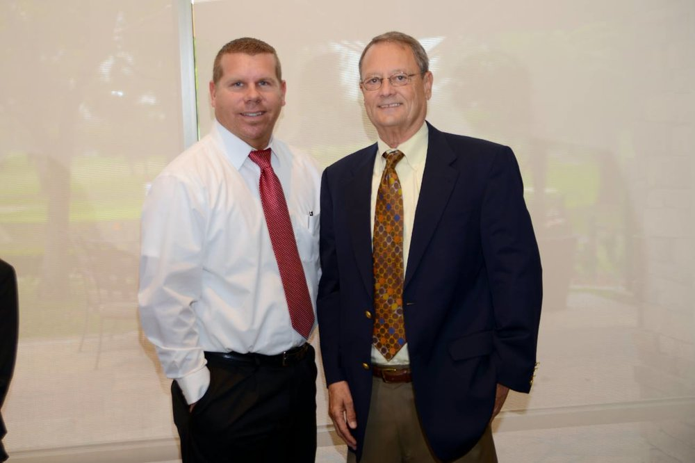 Vice president and general manager Russell Skersick and broker/owner Steve Roberson.