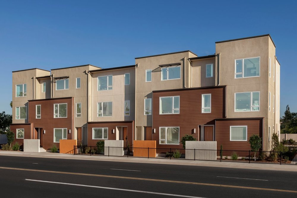 The new Centerpointe housing development in Downey.
