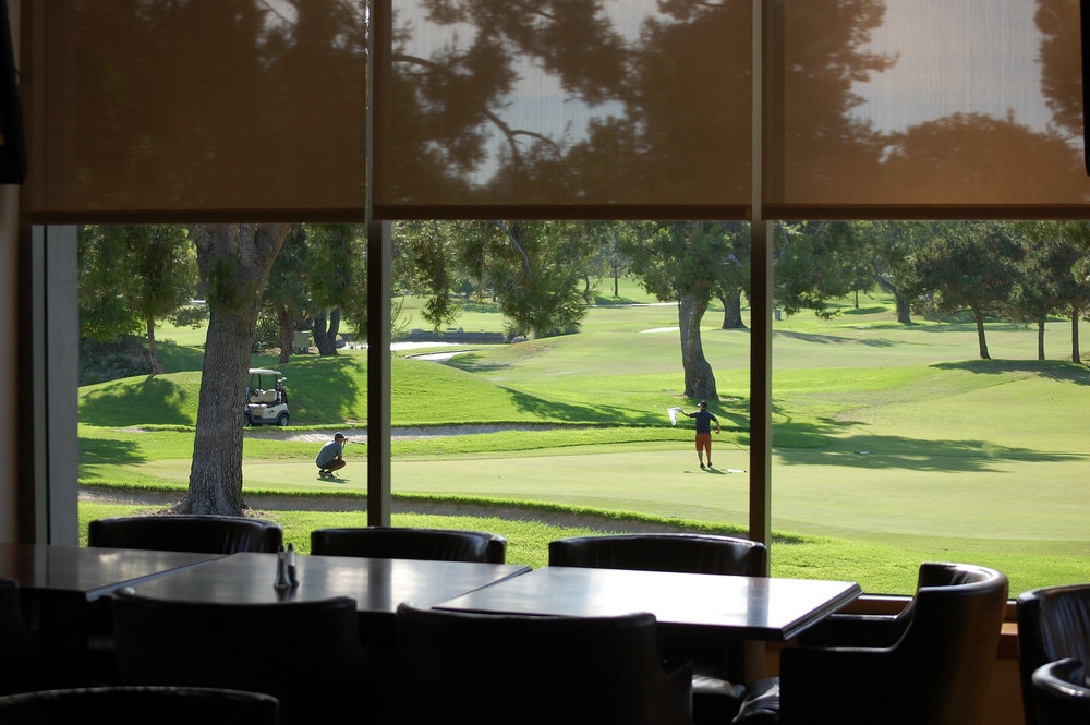 The view of Rio Hondo Golf Club from Hackers restaurant. Photo by Steve Mansell, DowneyDailyPhotos.com