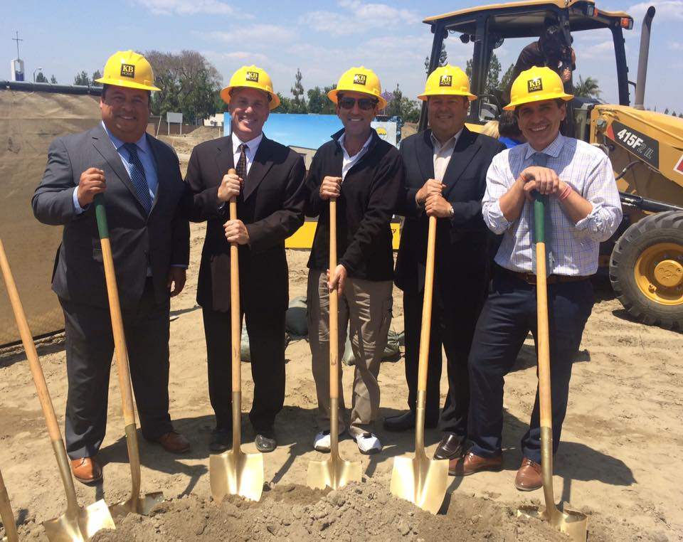 Downey officials at a groundbreaking for KB Homes.