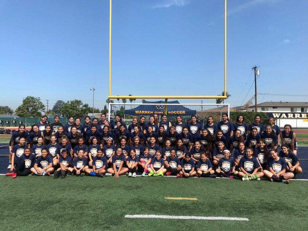More than 80 students participated in Warren High's summer soccer camp. Photo courtesy Coach Dussan
