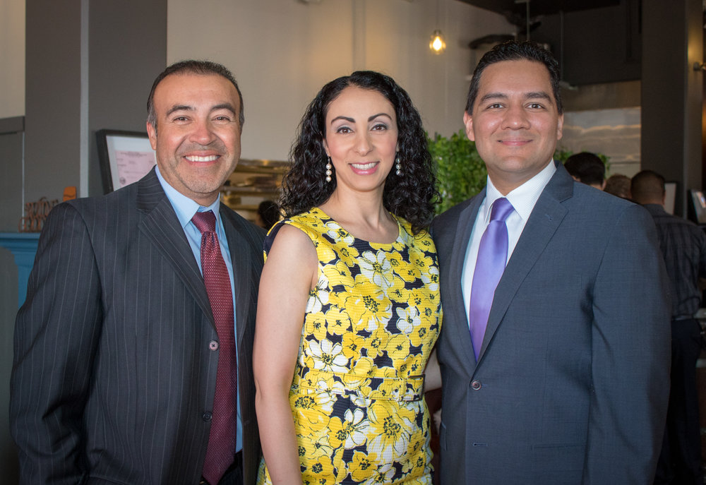 Restaurant owners Mario Trujillo, Donna Vasquez and Fernando Vasquez. Photo by Claudia Gomez