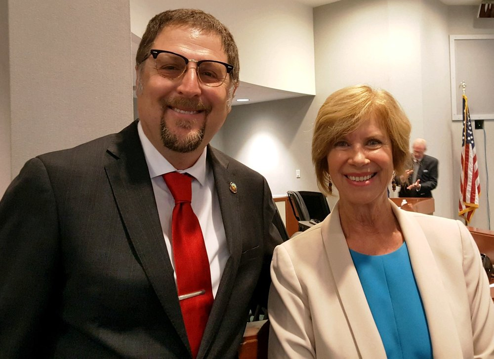 Downey Mayor Sean Ashton and L.A. County Supervisor Janice Hahn.