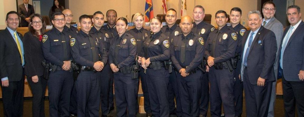 Downey's newest police officers were introduced at a recent City Council meeting.