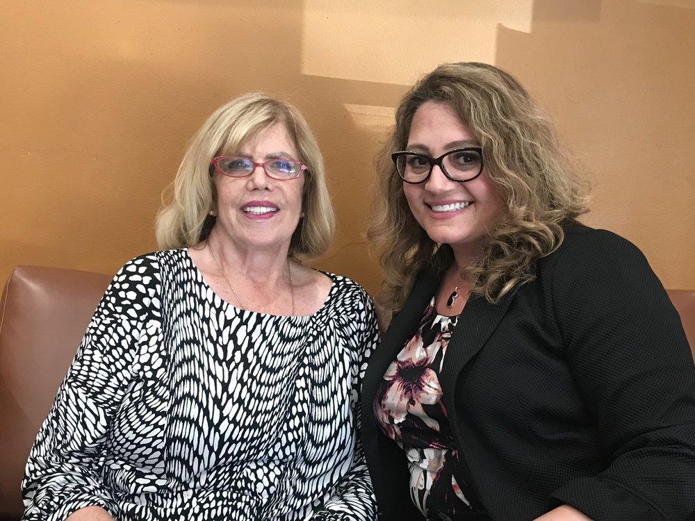 DUSD school board member Martha Sodetani and Claudia Frometa.