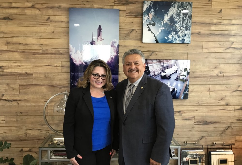 Mayor Pro Tem Rick Rodriguez and Claudia Frometa.