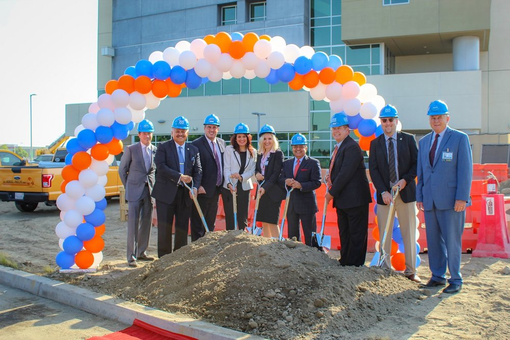 Kaiser Permanente broke ground on a new tower today, adding 96 beds to the hospital.Photo by Claudia Gomez.
