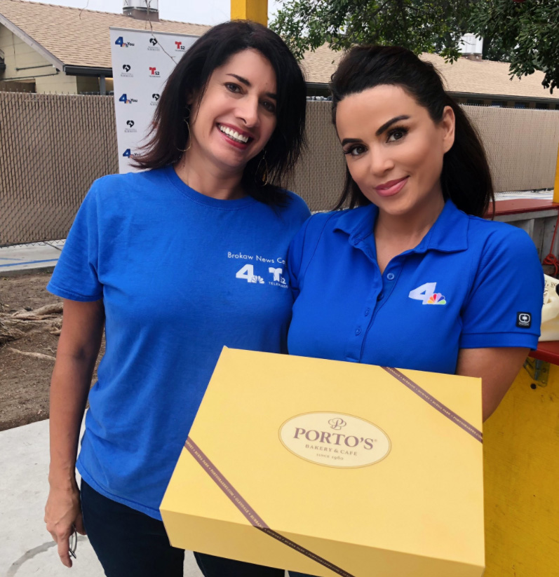 NBC-4 assignment editor Rosa Ordaz and traffic reporter Alysha Del Valle helped place animals in forever homes at an adoption event in Downey last week.