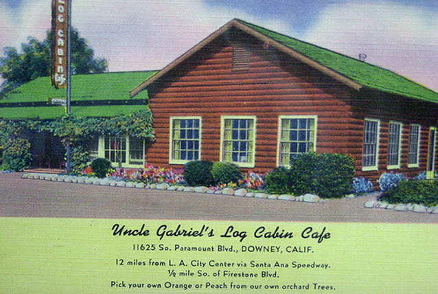 Uncle Gabriel's Log Cabin. Image courtesy Downey Historical Society