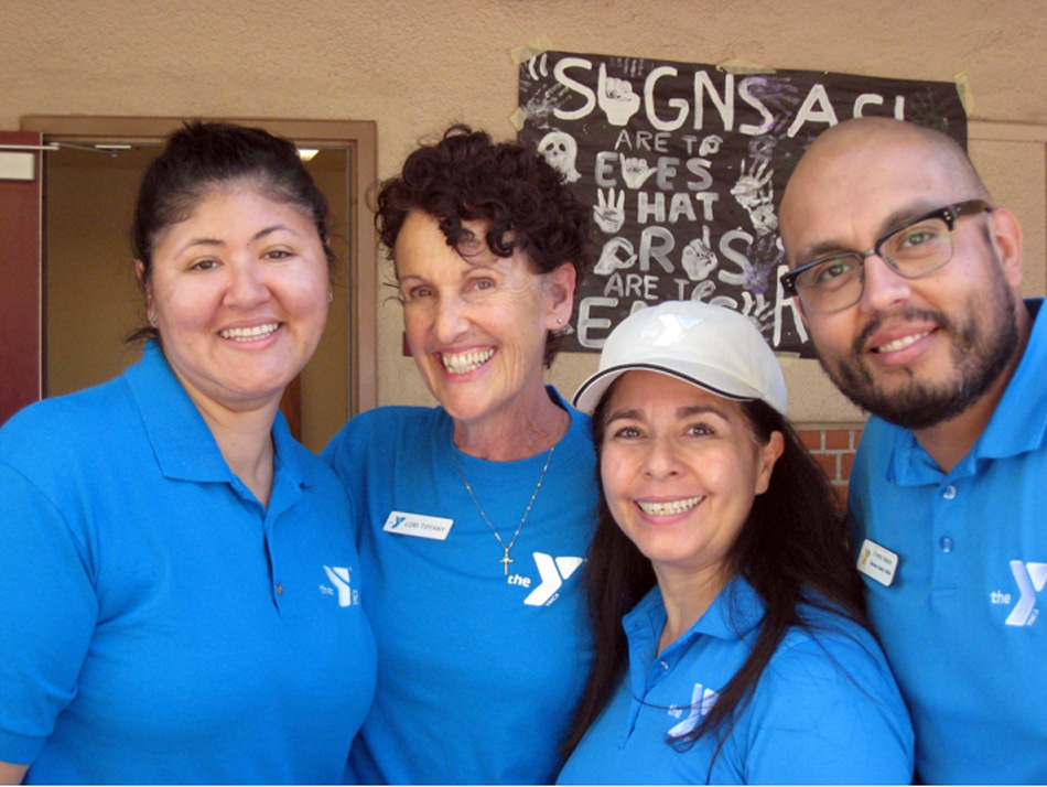 Downey YMCA staff at last Saturday's pancake breakfast. Photo by Lorine Parks