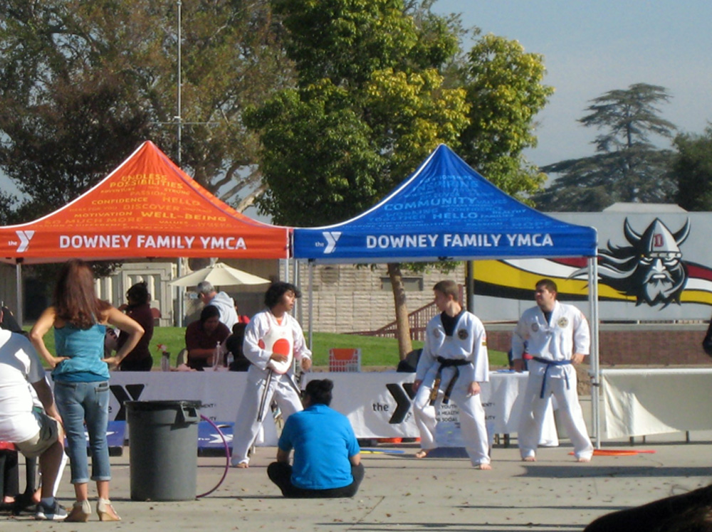 YMCA karate students put on demonstrations throughout the breakfast. Photo by Lorine Parks
