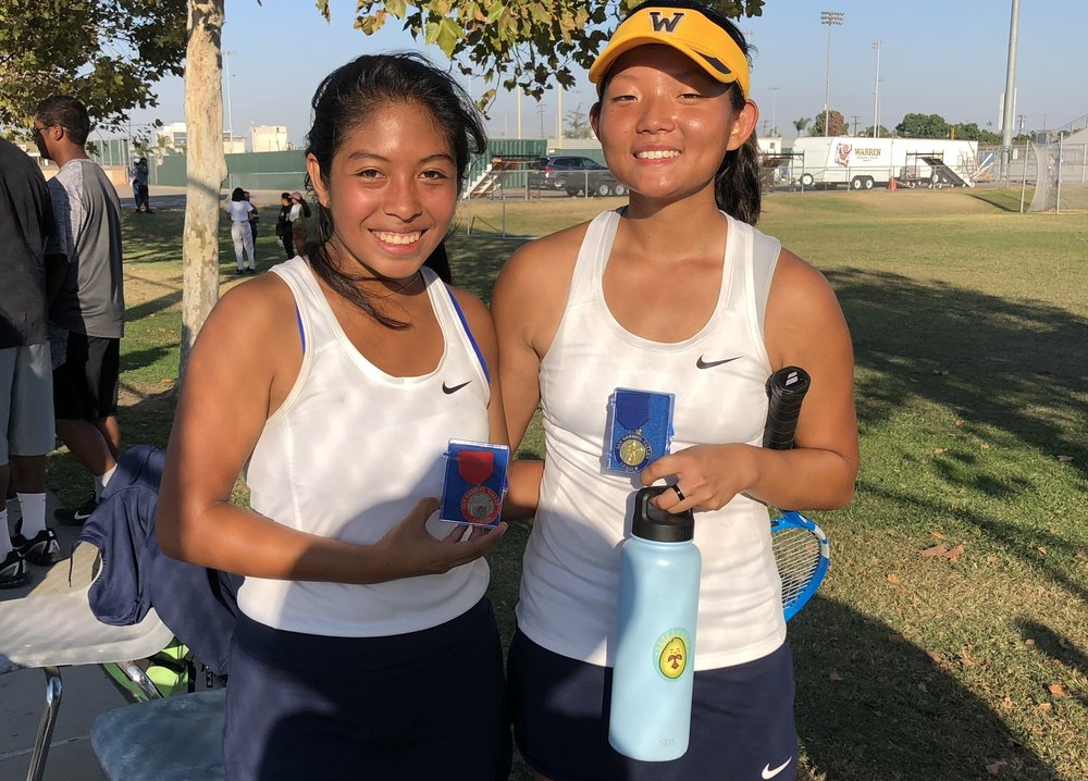 Victoria Recinos and Clara Kim. Photo courtesy coach Mary Starkson.