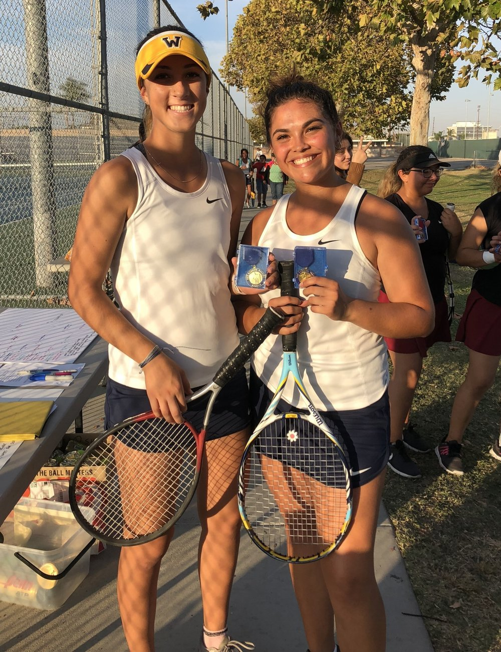 Kailyn Lorberter and Ximena Ramos. Photo courtesy coach Mary Starksen.