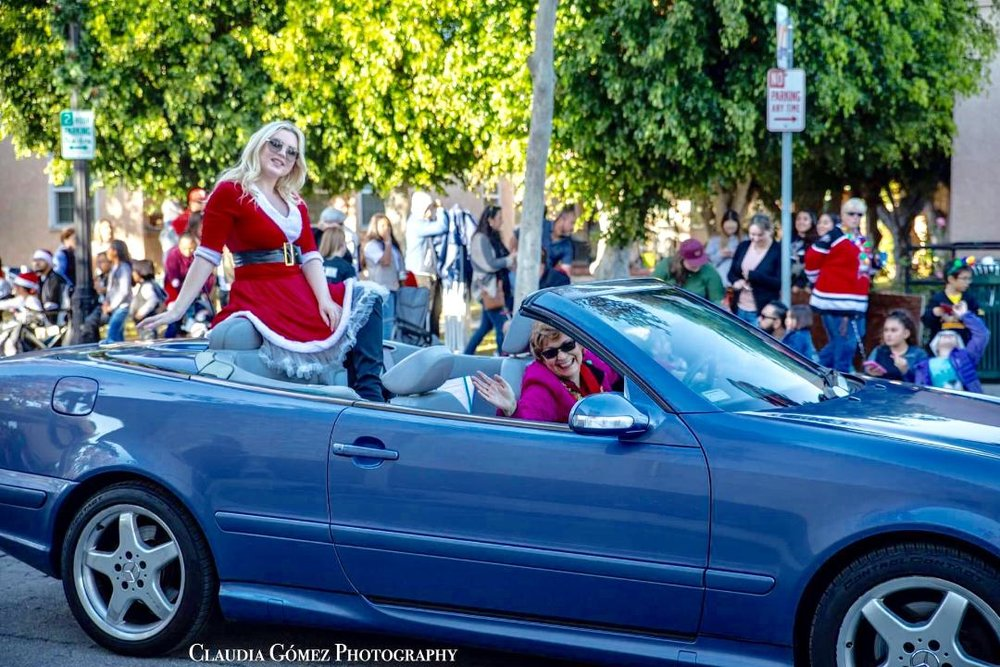 Cooper Phillip at the Downey Christmas Parade. Photo by Claudia Gomez
