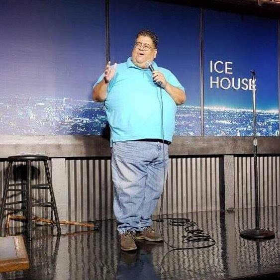 Ignacio Gonzalez performing at the Ice House comedy club in Pasadena. Photo by Nicole Pierce