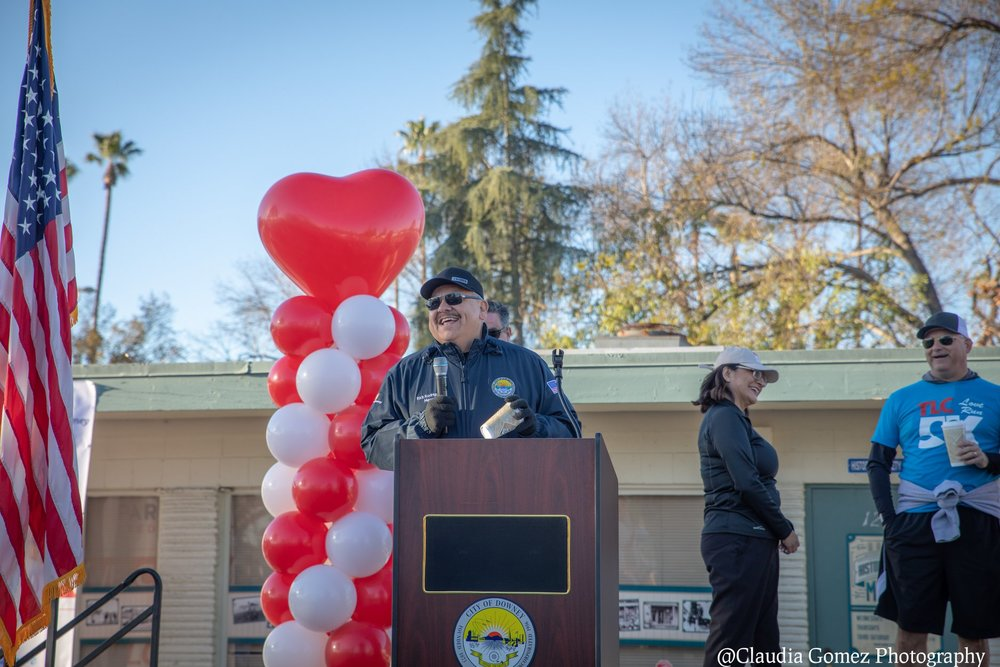 Mayor Rick Rodriguez at the Downey TLC 5K last month. Photo by Claudia Gomez