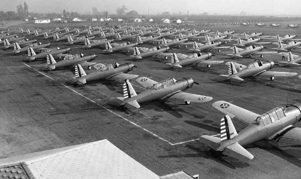 Vultee Aircraft in 1939-40. Photo courtesy Downey Historical Society.