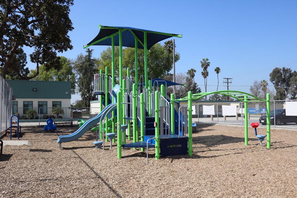 A playground at Apollo Park. Photo by Alex Dominguez