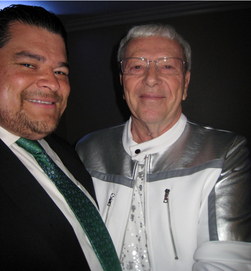 Will Medina (slacks not showing) and Dr. Ed Potter, both past presidents of Downey Rotary. Photo by Lorine Parks