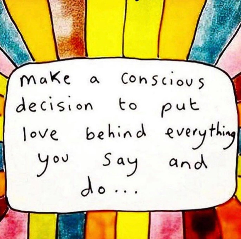 Awwwww...I love this! You can't go wrong if you set this intention! <3