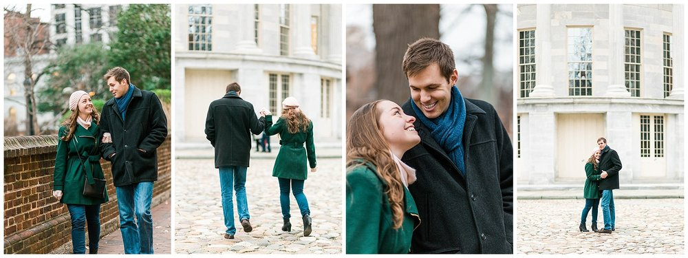 philadelphia winter engagement