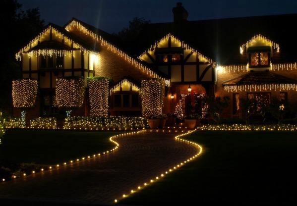 we hang christmas lights g30wall stairs pathjpg
