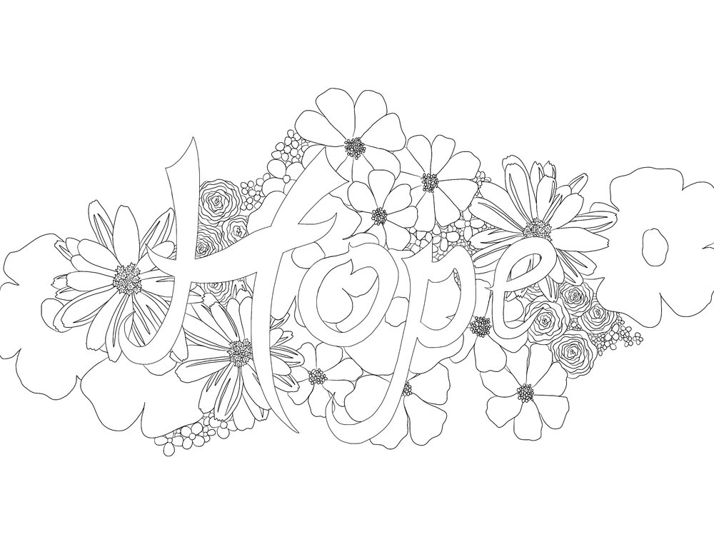 The beautiful  Faith, Hope, Love  pages are my most popular coloring page set in the shop.