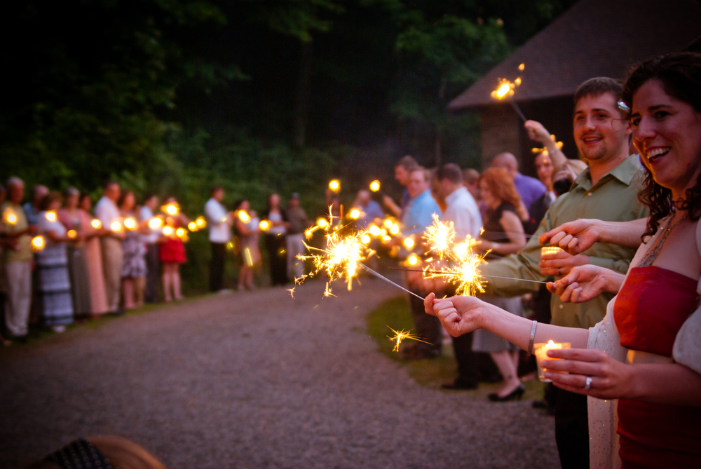 Vintage Wedding  // Wedding Sparklers  // 5 O'Clock Design Co.