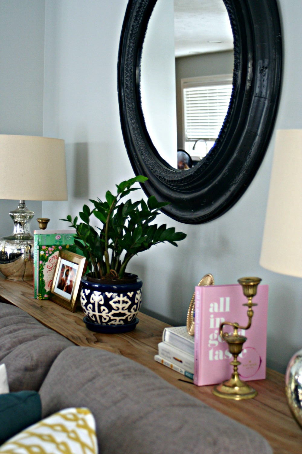 Sofa Table Styling // Restyle It Wright