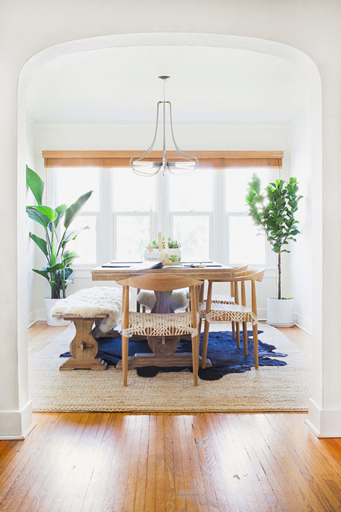 Layered Rugs // Jute and Cowhide
