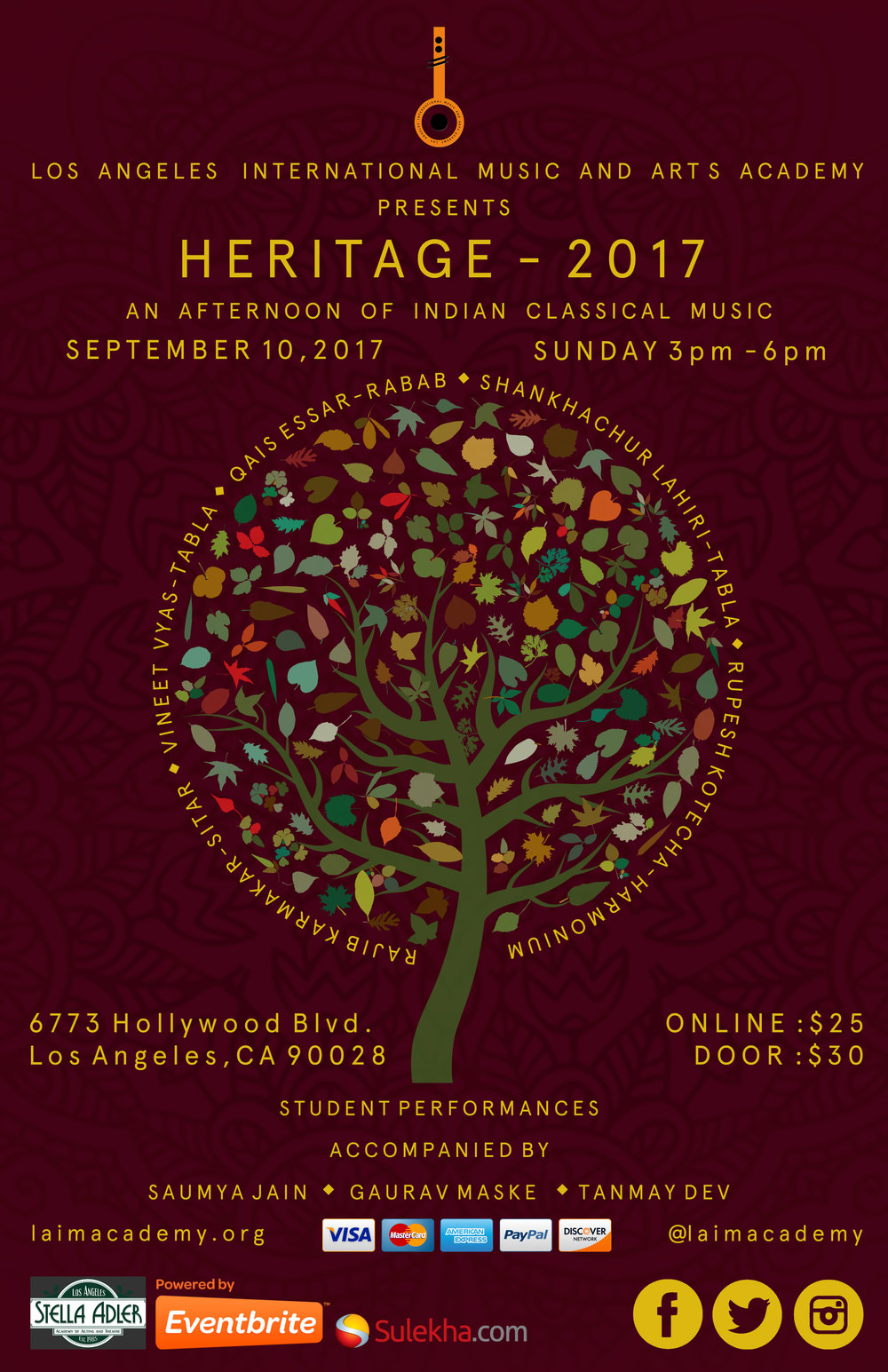 September 10 2017 - Sunday3 pm - 6 pm