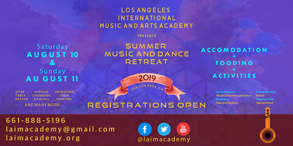 LAIMA SUMMER MUSIC AND DANCE RETREAT 2019 - August 10 and August 11, 2019