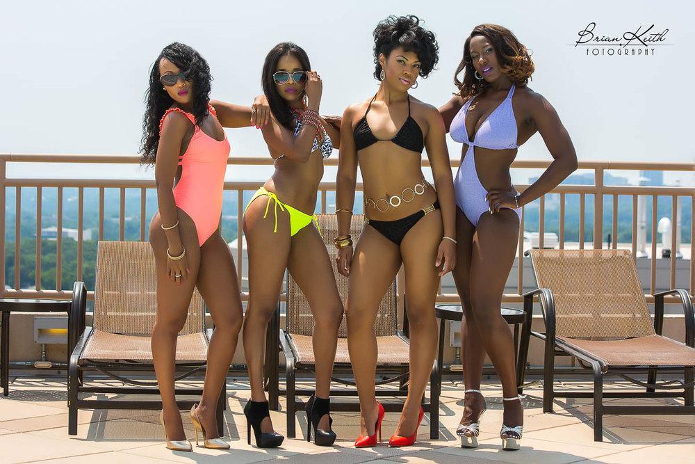 l-r Cavel Davis, Trini Model, Yvonne-Alei, Amalia Ritchie
