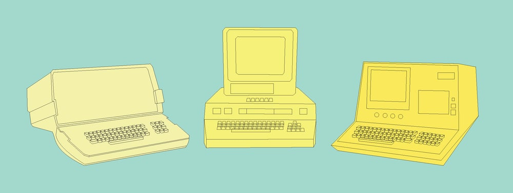 Retro Computers | Sallie Harrison Design Studio