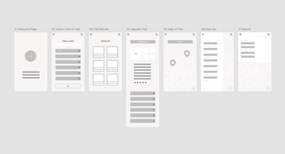 Wireframes | Sallie Harrison