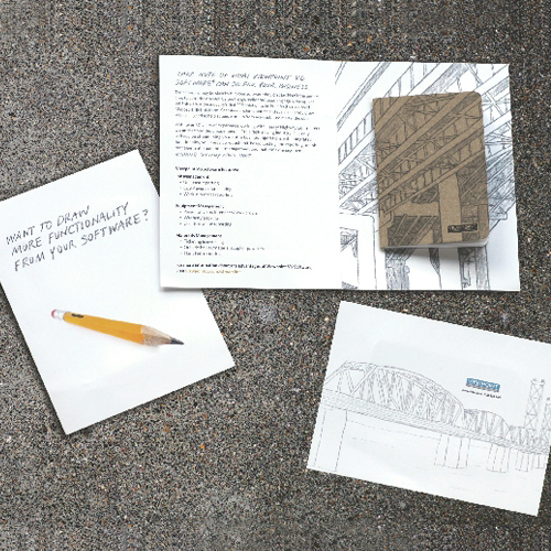 Illustrated direct mail