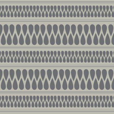 Gray Teardrop Pattern