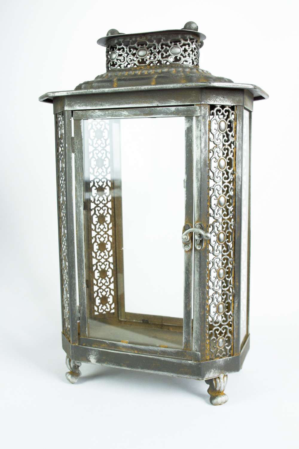 Rectangle Footed Lantern