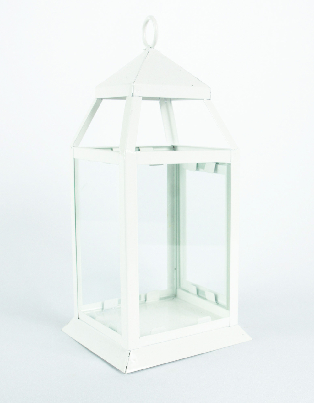 Square Glass Lantern (White)