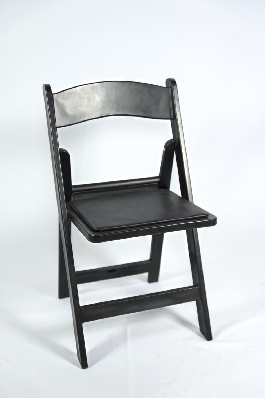 Black Resin Garden Chair