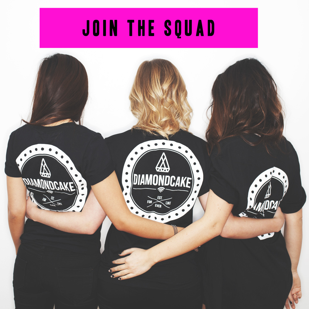 Join our squad with the DIAMONDCAKE BADGE TEE & tag us in a pic of you wearing it & maybe we'll feature it!