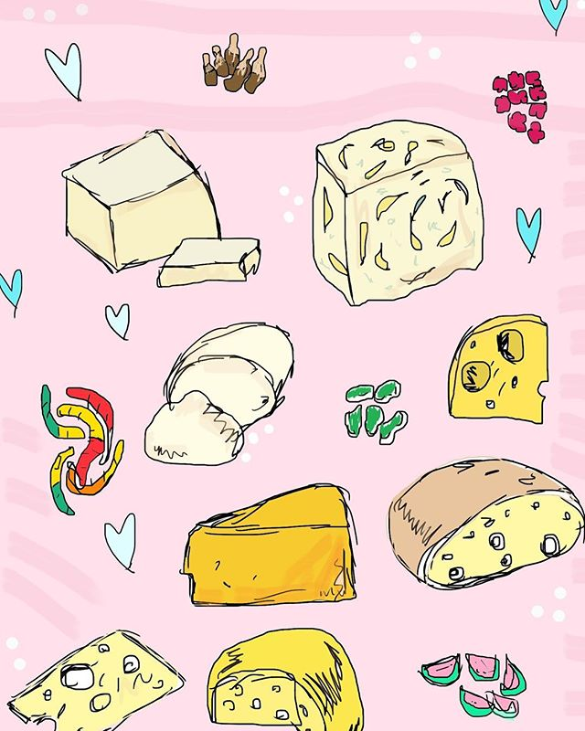 #TBT // when the birthday girl is equally into cheese and candy. Love you @lbroks 🍬🧀🍬 . . . . . #shopdiamondcake #sdc #diamondcake #latergram #cheeseart #yeg #yeggers #makersofig #customkels #illustration #art #artstagram #styleblogger #soursoothers #cheese #etsy #scute #hypebeast #artstar #artist #homemade #yegart #supportlocal #style #swaggy  #goodvibesonly #throwback
