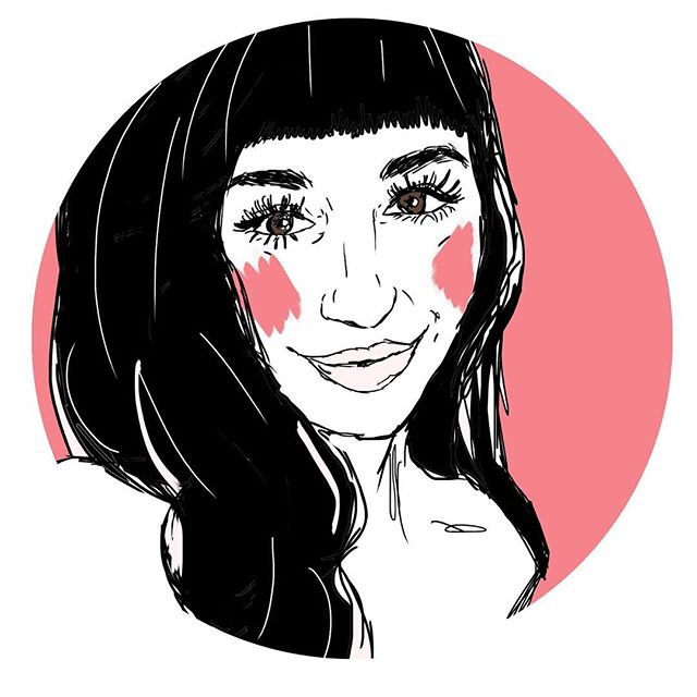 This only kinda looks like me but I still put it on the header of my resume cause s'cute . . . #shopdiamondcake #sdc #diamondcake #latergram #sketch #yeg #yeggers #makersofig #customkels #illustration #art #artstagram #styleblogger #foundonetsy #portrait #etsy #scute #hypebeast #artstar #selfie #selfportrait #colour #style #immyownmuse  #goodvibesonly